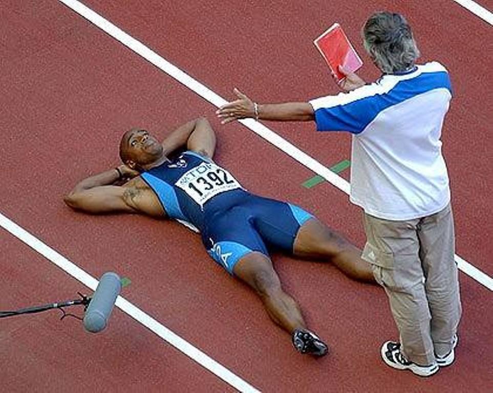 """""""Spektakl"""" Džon Dramonda na svetskom prvenstvu u Parizu 2003. godine."""