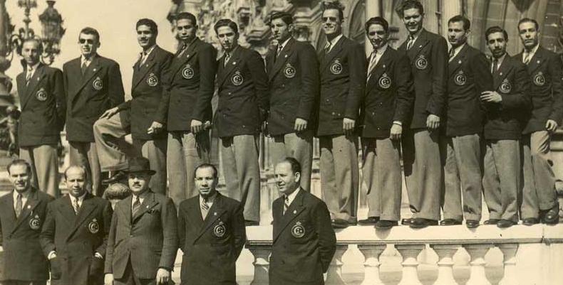 Košarkaši Egipta šampioni Evrope 1949. godine.