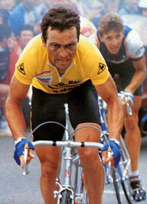 Bernar Ino - Dominacija na Tur De Fransu 1983. godine i pored očigledne povrede oka.