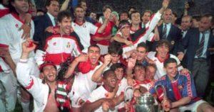 Fudbaleri Milana - Prvaci Evrope 1994. godine.