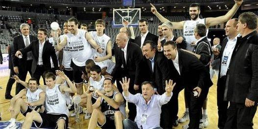 Košarakaši Partizana su 2010. godine osvojili svoju četvrtu uzastopnu titulu prvaka ABA lige i to na neverovatan i dramatičan način, pogotkom Dušana Kecmana sa više od pola terena na 0.6 sekundi do kraja za pobedu protiv Cibone u zagrebačkoj Areni 75 : 74!