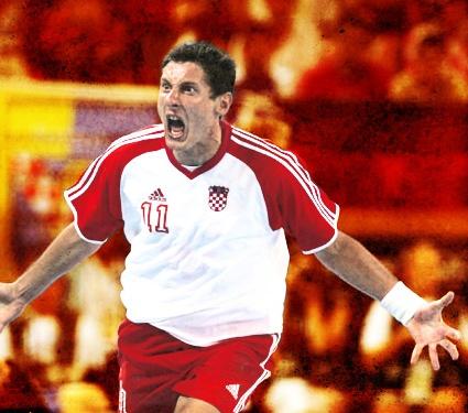 Mirza Džomba - Jedan od najboljih hrvatskih rukometaša na Svetskom prvenstvu u Portugalu 2003. godine.