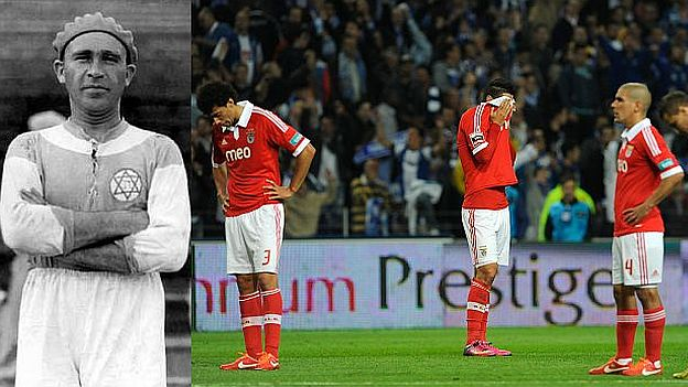U ligi Evrope 2013. godine ponovo finale i ponovo poraz, ovoga puta od Čelsija sa 1:2 golom u samom finišu meča. 2014. godine u finalu Lige evrope Benfika je izgubila na penale od Sevilje što je neverovatni osmi poraz u finalima. Nema navijača koji se nakon ovih utakmica nije setio Bele Gutmana…