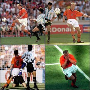 Bergkamp je 4. jula 1998. godine u Marselju, u četvrtfinalu prvenstva sveta izveo majstoriju o kojoj se i danas priča sa divljenjem. Bio je sam kraj utakmice, na semaforu je stajalo 1:1 i kada su svi mislili da će utakmica otići u produžetke, na scenu je stupio on. Frank de Bur poslao je loptu koja je letela čitavih 50 metara i koju je Bergkamp bez imalo muke graciozno primio, zatim je elegantno prevario Roberta Ajalu i sa smirenošću koja odlikuje rasne golgetere poslao loptu iza leđa Karlosa Roe za 2:1 i pobedu nad Argentinom.