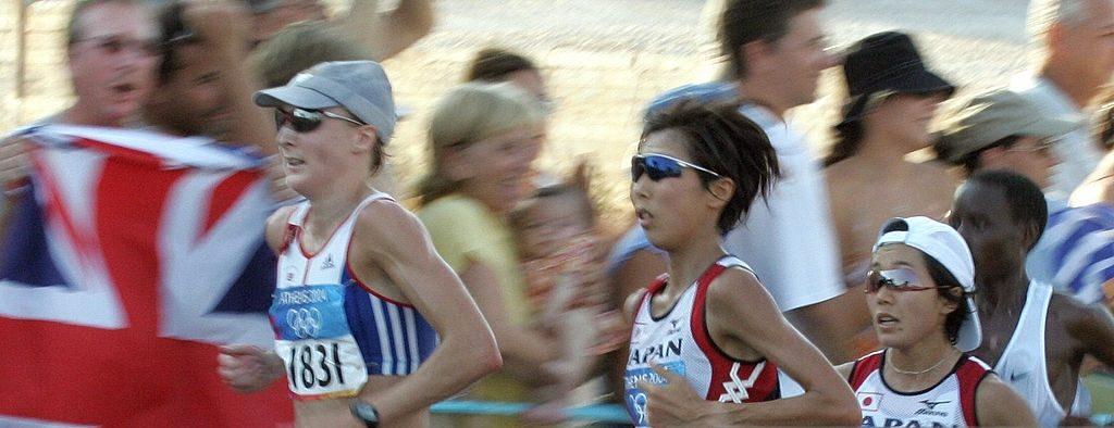 Pola Redklif je dobro trčala na početku maratonske trke u Atini.
