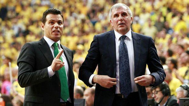 Željko Obradović i Dimitris Itudis - Tandem koji je doneo mnogo uspeha Panatinaikosa.