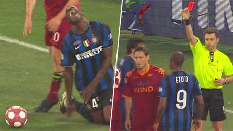 Zbog grubog prekršaja Frančesko Toti je dobio direktan crveni karton.