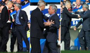 """Incident se dogodio tokom prvog poluvremena utakmice 7. kola Premijer lige između Čelsija i Arsenala kada je u 20 minutu posle starta Čelsijevog odbrambenog igrača Gerija Kejhila nad napadačem Arsenala Aleksisom Sančesom, Venger izašao iz svog """"tehničkog dela"""" i protestovao kod sudije. Venger je tada gurnuo Murinja, na šta mu Portugalac nije ostao dužan, ali su ih brzo razdvojili, a sudija pozvao na """"informativni razgovor""""."""