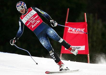 Bode Miler je kombinacijski spust na prvenstvu u Bormiju skijao na jednoj skiji.