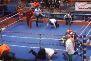 Lončar je na tom juniorskom šampionatu bio velika nada Hrvatska u kategoriji do 81 kilograma, ali je pošto je tri puta bio u nokdaunu, poražen tehničkim nokautom od Litavca Baniulisa. Kada je sudija u ringu, Poljak Maciej Dziurgota pozvao boksere na sredinu ringa da zvanično proglasi pobednika borbe, Vido Lončar mu je prišao i udario ga pesnicom u glavu. Dziurgota je od udarca pao, a Lončar mu je potom prišao i zadao još sedam udaraca koji su delovali zastrašujuće.