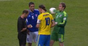 Zlatan Ibrahimović – Loptom u lice golmana Farskih Ostrva fb