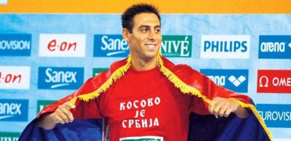 """Milorad Čavić – Suspenzija zbog majice """"Kosovo je Srbija"""""""