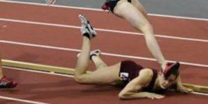 """Ipak, iako je trčala dobro u prvih 350 metara trke na 600 metara i bila u vođstvu, pred ulazak u poslednji krug dogodio joj se veliki peh. Atletičarka koja je bila iza nje ju je slučajno saplela, a Dornidenova je pala, usput izbegavši """"za dlaku"""" da je rivalka nagazi na glavu. Ako je imala sreću da ne doživi povredu, što se tiče same trke, tu je već sve delovalo poprilično nesrećno i izgubjleno. Njenje rivalke su polako odmicale, a ona se našla na zemlji potresena, šokirana i u bolovima, pa je u deliću sekunde ostala bez šanse za trijumf u trci u kojoj je toliko želela da pobedi. Bar je tako izgledalo da će biti, ali..."""