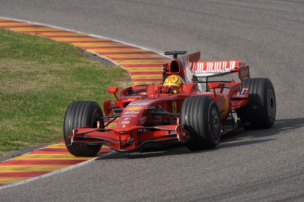 Valentino Rosi vozio je sjajno bolid Ferarija na testiranju.