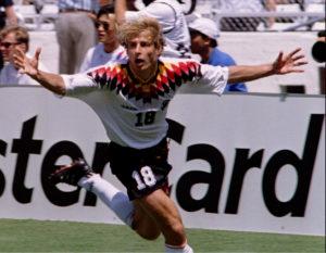 Umeo je Klinsman da proslavi njegov treći gol na prvenstvu.