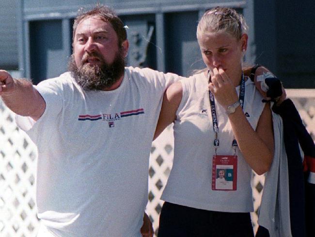 Damir i Jelena Dokić na Vimbldonu 2000. godine.