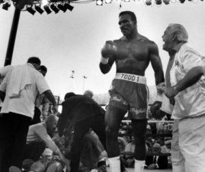 """""""Tajsone bolje se pripremi, Ivander ti je večeras desnim aperkatom poslao poruku. Ti ćes od tog udarca završiti u trećem redu tribina."""" - rekao je posle meča Lu Duva, trener Ivandera Holifilda, i na taj način poslao poruku u tom trenutku šampionu sveta i velikoj bokserskoj zvezdi, Majku Tajsonu."""