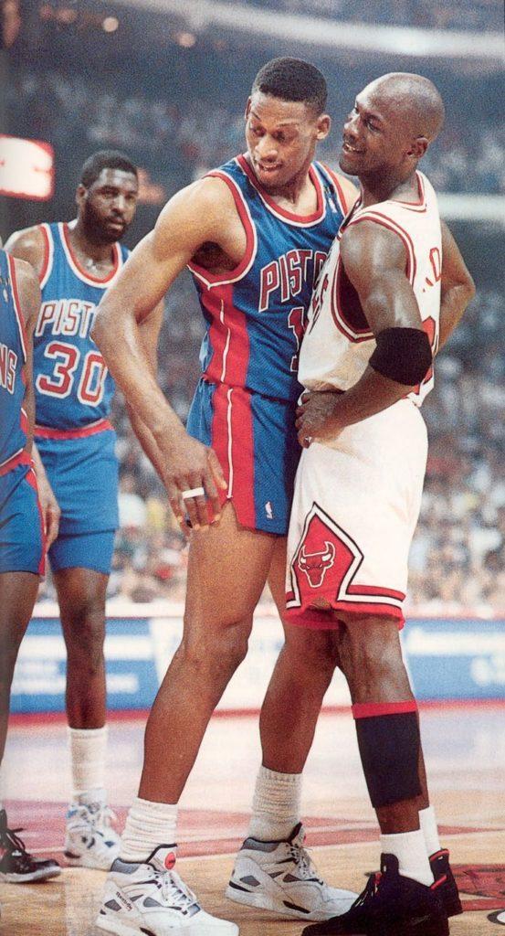 """Majkl Džordan i Denis Rodman vodili su mnogo zanimljivih duela dok je """"Crv"""" nastupao za Pistonse."""