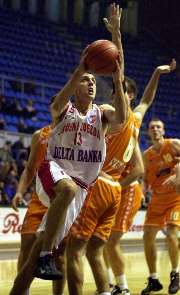 Miloš Vujanić na počecima karijere u dresu Crvene zvezde.