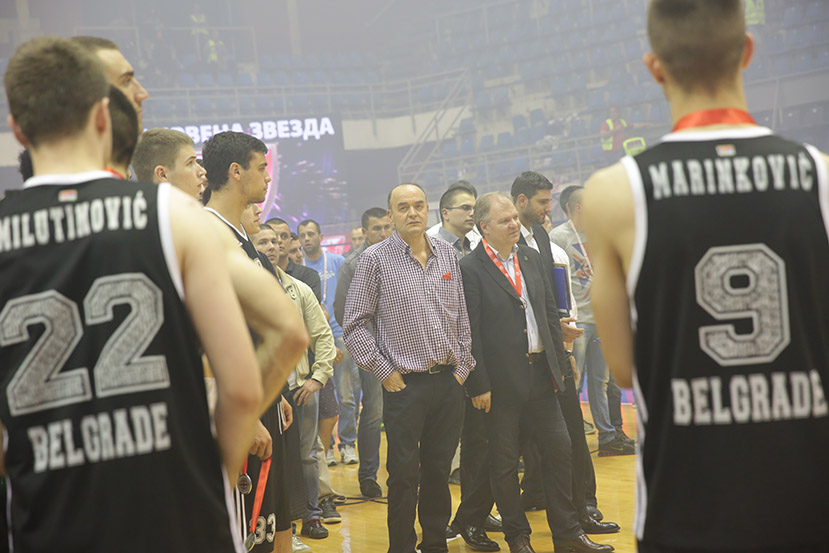Duško Vujošević je zatražio od svojih igrača fer-plej ponašanje posle poraza u finalu prvenstva Srbije 2015. godine.