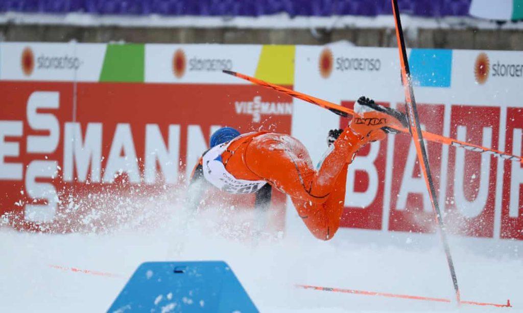 Adrijan Solano je mnogo puta pao tokom nastupa na Svetskom prvenstvu u Lahtiju.