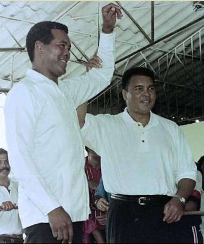 Tokom godina Muhamed Ali i Teofilo Stivenson postali su veliki prijatelji.
