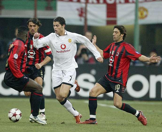 Kristijano Ronaldo u duelu sa mnogo iskusnijim igračima Milana.