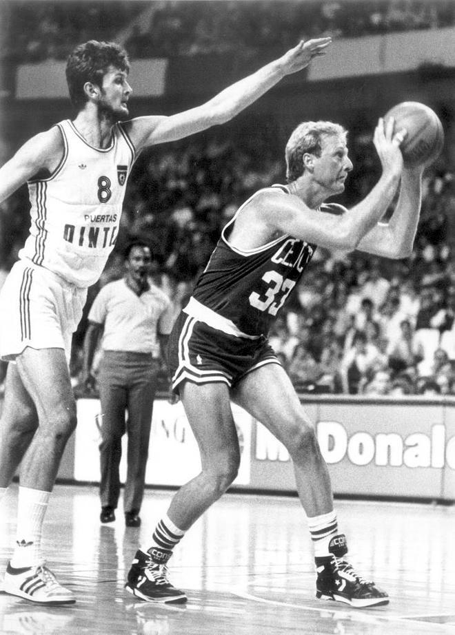 Leri Bird i Žarko Paspalj vodili su mnogo duela na meču Seltiksa i reprezentacije Jugoslavije.