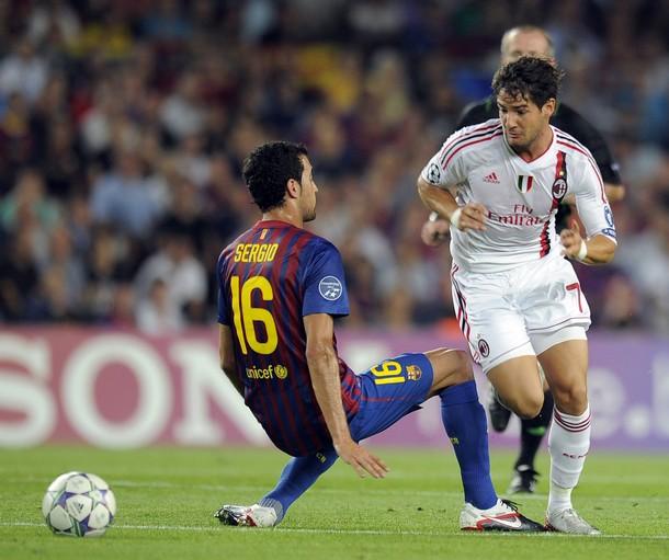 Alesandre Pato postigao je fantastičan gol protiv Barselone. Photo: Lluis Gene/AFP/Getty Images