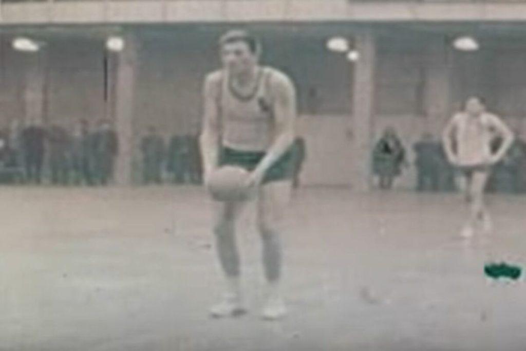 Radivoj Korać je šutirao odozdo slobodna bacanja, ali je i pored toga gotovo bio nepogrešiv sa linije penala.