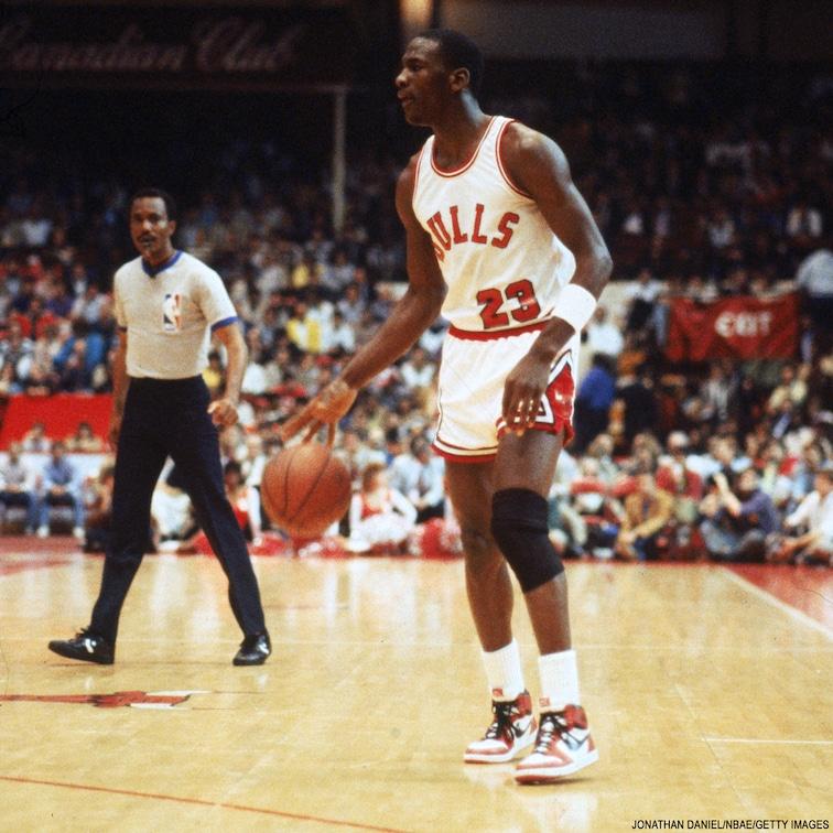 Majkl Džordan na svom prvom meču u NBA ligi.